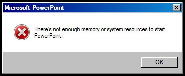 PPT memory error