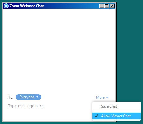 Zoom chat options