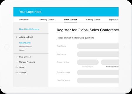 New Webex Registration