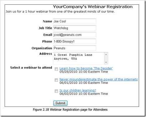 RHUB registration page