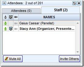 GoToWebinar Staff Panel