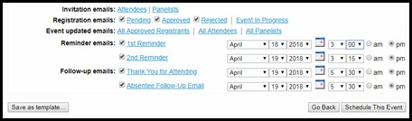WebEx Event Email Scheduler