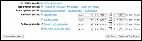 WebEx Event Email Scheduler