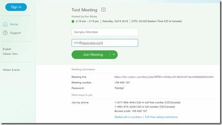 Modern View - Join Webex Meeting