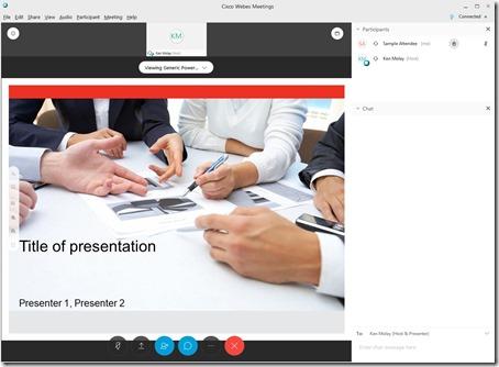 Webex Meeting Desktop App Interface