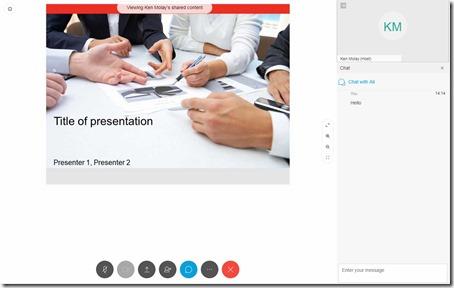 Webex Meeting Web App Interface