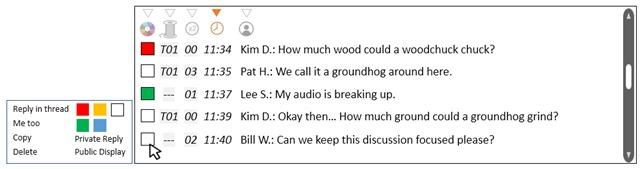 Presenter chat mockup
