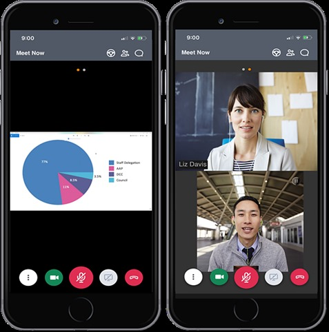 GoToMeeting iOS App Interface