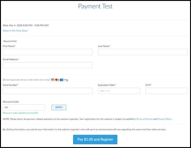 Payment discount reg