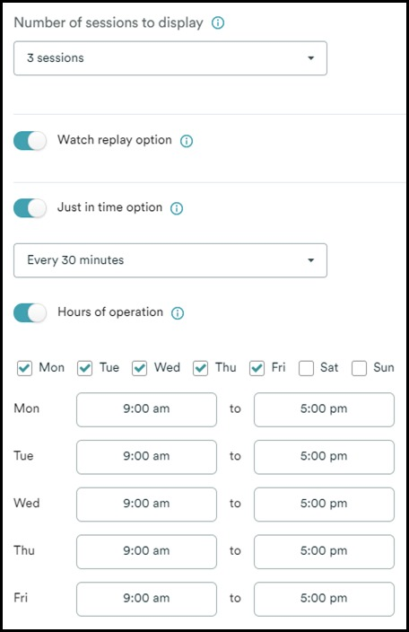 eWebinar advanced scheduling options