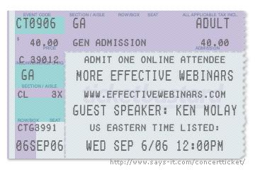 Effective Webinars Ticket Stub