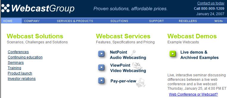 The Webinar Blog: Vendors